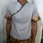 Seragam Kantor Hotel Abu Motif Batik