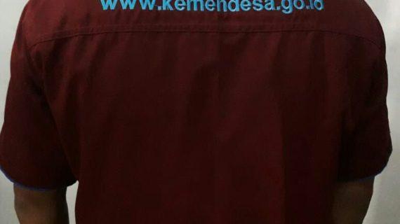 Seragam Kantor Kemendesa maroon list biru muda, Seragam kantor formal yang fashionable untuk kesan profesional
